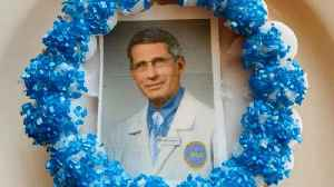 News video: Bakery Honors Coronavirus Hero Dr. Fauci With His Face On Donuts