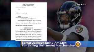 Lamar Jackson Suing Amazon For Allegedly Selling Unlicensed Merchandise [Video]