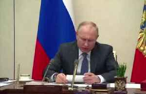 News video: Coronavirus: Putin calls for sanctions on essential goods to be lifted at G20 summit