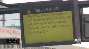 VTA Suspends Light Rail Service Indefinitely After Coronavirus Case [Video]