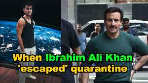 When Ibrahim Ali Khan 'escaped' quarantine [Video]