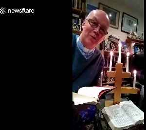 UK vicar catches FIRE while giving online sermon amid coronavirus lockdown [Video]