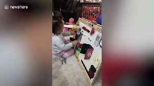 Parents make sensory board to keep toddler amused during COVID-19 lockdown in France [Video]