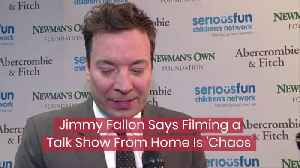 Jimmy Fallon Deals With Home Filming [Video]