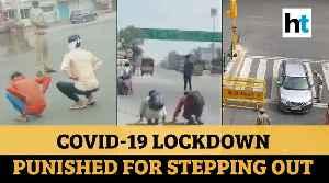 Coronavirus | Crawling, frog jumps: How cops are punishing lockdown violators [Video]