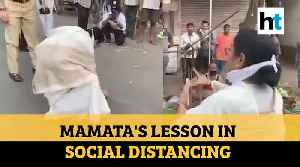Covid-19: When Mamata Banerjee drew chalk circles to teach social distancing [Video]