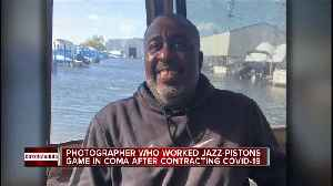 Photographer who worked Jazz-Pistons game in coma after contracting COVID-19 [Video]