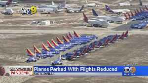 Coronavirus: Grounded Planes Stored Across Southern California, LAX Reports 85% Decline In Passenger Traffic [Video]