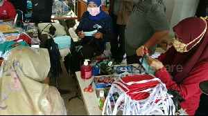 News video: Tens of thousands of masks being made for medical workers in West Sumatra, Indonesia