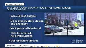 News video: Hillsborough County leaders vote for 'safer-at-home' order to go into effect Friday