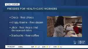 We're in this together: Companies offering freebies for healthcare workers [Video]