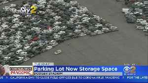 Dodger Stadium Parking Lot Used Store Unused Rental Cars [Video]