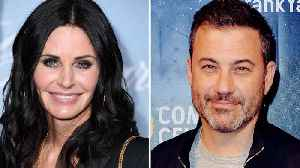 Jimmy Kimmels Quizzes Courteney Cox on 'Friends' Trivia With His Superfan Relative | THR News [Video]