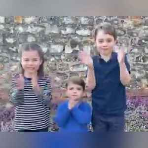 The Royal children applaud for National Health Service workers [Video]