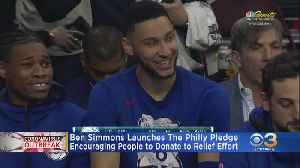 Sixers' Ben Simmons Lending Assist With COVID-19 Relief Efforts [Video]