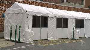Tents being set up outside hospitals [Video]