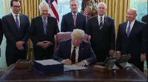 Trump signs $2.2 trillion economic rescue package [Video]