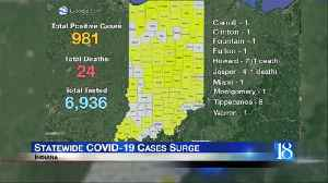 State reports 981 cases, 24 deaths from coronavirus [Video]