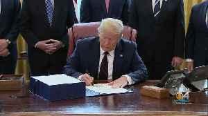 President Trump Signs Massive Coronavirus Relief Package [Video]