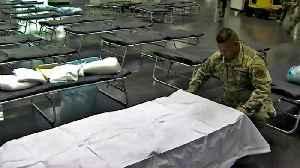 National Guard Preps Santa Clara Convention Center as Makeshift Hospital [Video]