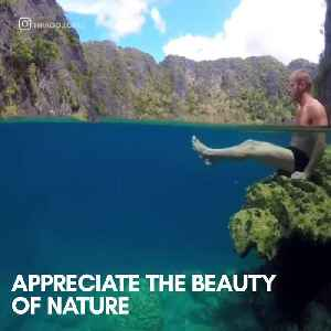 This lake in the Philippines is so dreamy [Video]