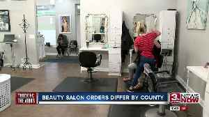 Beauty salon orders differ by county [Video]