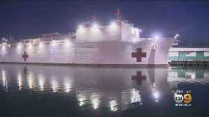 USNS Mercy Arrives At Port Of Los Angeles, Garcetti Announces First Suspected COVID-19 Case In Homeless Person [Video]