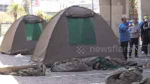 News video: Cape Town authorities offer tents to city's homeless during coronavirus outbreak