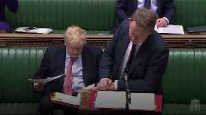 Coronavirus: Johnson, Jack and Hancock next to each other in Commons