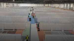 Cubicles in London's ExCel centre show likely scale of coronavirus crisis [Video]