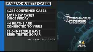 Coronavirus Cases: Massachusetts Reports 44 Deaths, 4,257 Cases [Video]