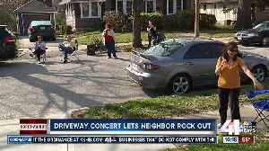 Driveway concert lets neighbors rock out [Video]