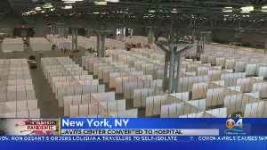 Javits Center In New York Converted Into Temporary Hospital [Video]
