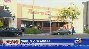 After 75 Years, Landmark Restaurant Nate 'N Al's Closing Its Doors ... For Now [Video]