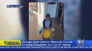 Personal Trainer Makes In-Home Obstacle Course To Keep Daughter Active During Stay-At-Home Order [Video]