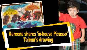Kareena shares 'in-house Picasso' Taimur's drawing [Video]