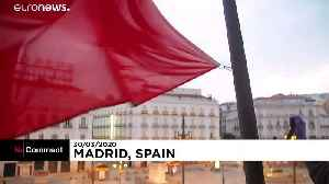 Minute's silence in Madrid for COVID-19 victims