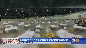 Coronavirus: LA Convention Center Undergoing Preparations For Possible Use [Video]