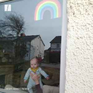 Rainbows In Windows Spread Positivity During Coronavirus Lockdown [Video]