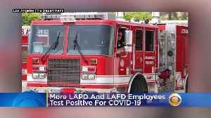 7 More LAPD Employees, 3 More LAFD Employees Test Positive For COVID-19 [Video]