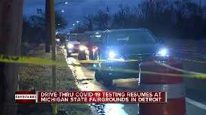 Drive-thru COVID-19 testing resumes in Detroit [Video]
