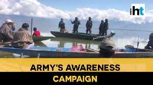 Watch: Indian Army's awareness campaign for fishermen at Wular lake [Video]