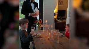 Dad throws heartwarming dinner party with young family [Video]