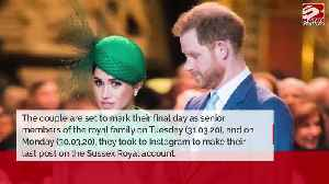 Prince Harry and Duchess Meghan have made their final Instagram post