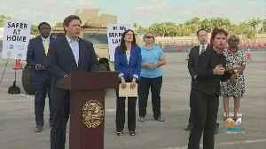 Gov. DeSantis Holds Press Conference At Hard Rock Stadium Coronavirus Testing Site To Promote 'Safer At Home' Message [Video]