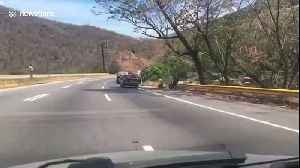 Venezuelans queue at petrol stations for miles as coronavirus causes gas panic [Video]