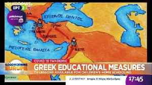 Greece uses state TV to teach school children during coronavirus lockdown [Video]