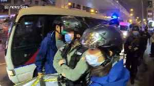 Hong Kong Police makes four arrests during protests in Mong Kok [Video]