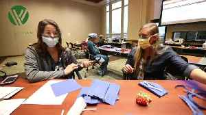 Colorado nurses set up sewing room in Glenwood Springs hospital to make protective masks [Video]