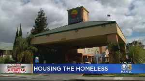 Oakland Sets Up Coliseum-Area Hotels To House Homeless With COVID-19 [Video]